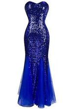 Load image into Gallery viewer, Sweetheart Mermaid Sequined Long Prom XHMPST14185