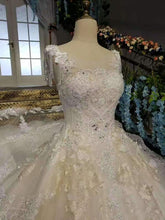 Load image into Gallery viewer, 2020 New Arrival Wedding Dresses Off The Shoulder With Beads And Handmade Flowers Lace XHMPST14613