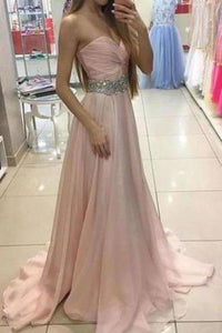Sweetheart Charming Strapless Handmade A-Line Beads Formal Prom XHMPST14177