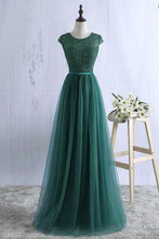 Load image into Gallery viewer, Sexy Green Prom Dress Tulle Prom Dresses Long Evening Dress Green Formal Dress Prom XHMPST13586