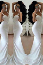 Load image into Gallery viewer, White Prom Dresses 2020 Long Trumpet/Mermaid Straps Chiffon Prom XHMPST14514