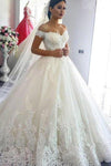 Ball Gown Off the Shoulder Sweetheart Wedding Dresses with Lace up Wedding Gowns XHMPST15561