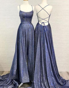 Sparkly A Line Hot Selling Spaghetti Straps Prom Dresses Long Evening XHMPST20471