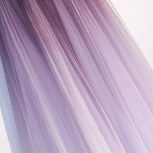 Unique A Line Ombre Purple Beading Prom Dresses with Lace up Long Dance Dresses XHMPST15603