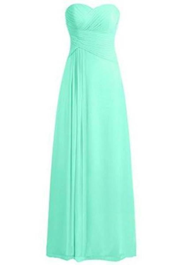 Sweetheart Bridesmaid Dresses Chiffon Long Prom Evening Gown XHMPST14175
