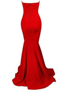 Sleeveless Strapless Bra Mermaid Floor Length Party Dress with XHMPST14017