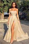 Queen Sweetheart One Shoulder Off the Shoulder Sequins Prom Dresses XHMPST15314