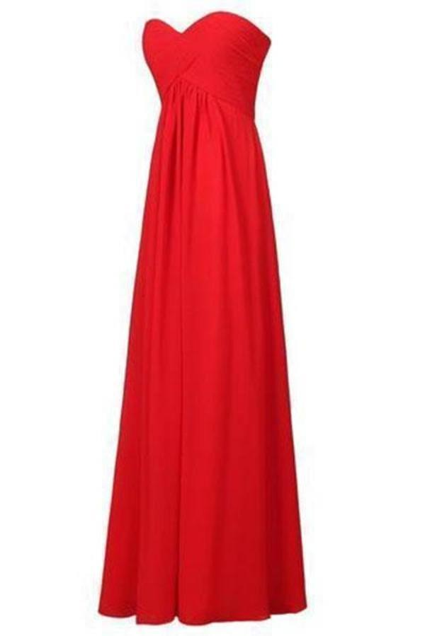 Sweetheart Bridesmaid Chiffon Prom Dress Long Evening Gown XHMPST14173