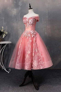 Short Bateau Appliques Beads Off the Shoulder Quinceanera Dresses Homecoming XHMPST13793