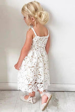 Load image into Gallery viewer, Cute Spaghetti Straps Lace Appliques Flower Girl Dresses Child Dresses XHMPST15137