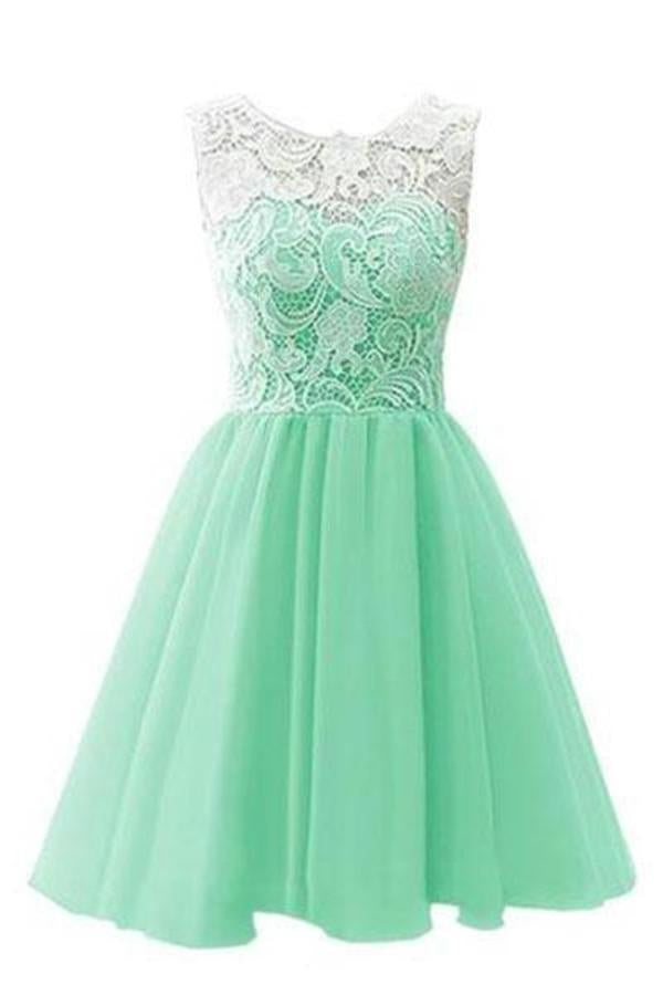 Flower Girl / Adult Ball Gown Lace Short Prom XHMPST12263