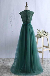 Sexy Green Prom Dress Tulle Prom Dresses Long Evening Dress Green Formal Dress Prom XHMPST13586