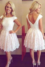 Load image into Gallery viewer, white homecoming dress short best homecoming dress affordable dresses for XHMPST14491
