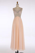 Load image into Gallery viewer, V-Neck Prom Dresses Long Prom Dresses Chiffon XHMPST14429
