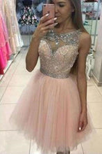 Load image into Gallery viewer, Tulle Short BeadS Cute Sleeveless Elegant Fashion Sexy Custom Made Homecoming Dresses XHMPST14682