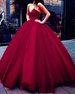 Unique Ball Gown Red Strapless Sweetheart Long Prom Dresses Quinceanera XHMPST14315