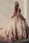 Rosewood Sequins Ball Gown Sweetheart Strapless Quinceanera Dresses with XHMPST15661