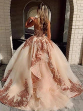 Load image into Gallery viewer, Rosewood Sequins Ball Gown Sweetheart Strapless Quinceanera Dresses with XHMPST15661