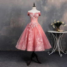 Load image into Gallery viewer, Short Bateau Appliques Beads Off the Shoulder Quinceanera Dresses Homecoming XHMPST13793