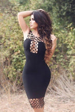 Load image into Gallery viewer, Sexy Sheath Black Scoop Sleeveless Cute Short Prom Dresses Homecoming XHMPST13675
