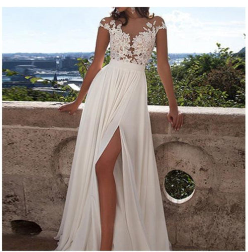 See through wedding dresses Sexy lace prom dresses Beach wedding gown Prom dresses sexy prom XHMPST13478