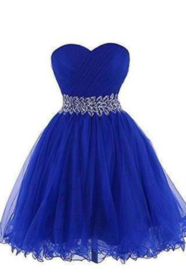 Sweetheart Short Blue Bridesmaid Dresses Homecoming XHMPST14193