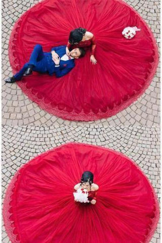Modest Quinceanera Dress Red Ball Gown Fashion Sexy Custom Made Evening XHMPST12916