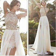 Load image into Gallery viewer, Lace prom dress backless prom dress sexy prom dress prom dress cheap prom dress formal XHMPST12550