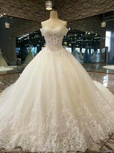 2020 New Arrival Awesome Wedding Dresses Off The Shoulder A Line With Crystals Royal Train Tulle Lace XHMPST14596