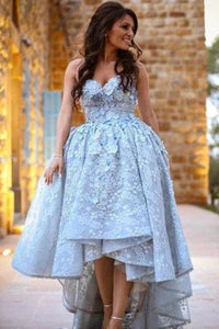 Unique Lace Sweetheart High Low Ball Gown Prom Dresses For Teens Graduation XHMPST14337