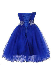 Load image into Gallery viewer, Sweetheart Short Blue Bridesmaid Dresses Homecoming XHMPST14193