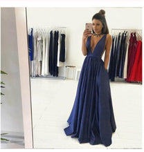 Load image into Gallery viewer, Sexy Deep V Neckline Prom Dresses Graduation Party Dresses Formal Dress For XHMPST13570