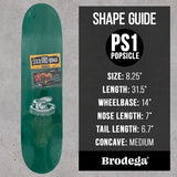 "Tøjdyr / PS1 / 8.25"" - Brodega Skateboards"