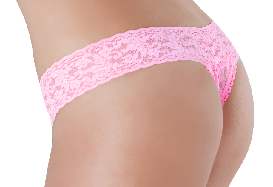 Petite Lace Thong - Candy Floss