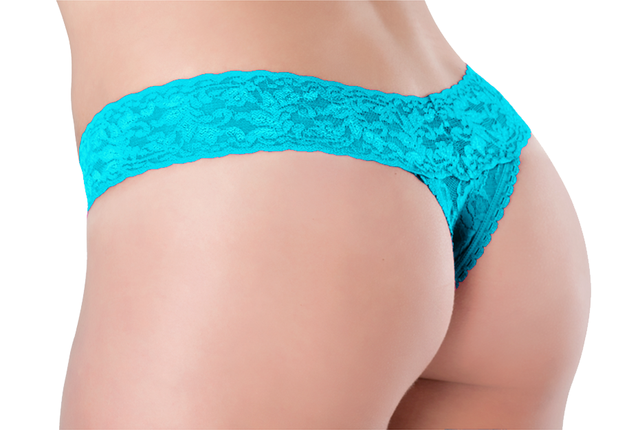 Petite Lace Thong Carribbean Kiss