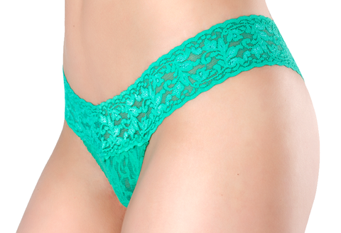 Petite Lace Thong  - Emerald Gaze
