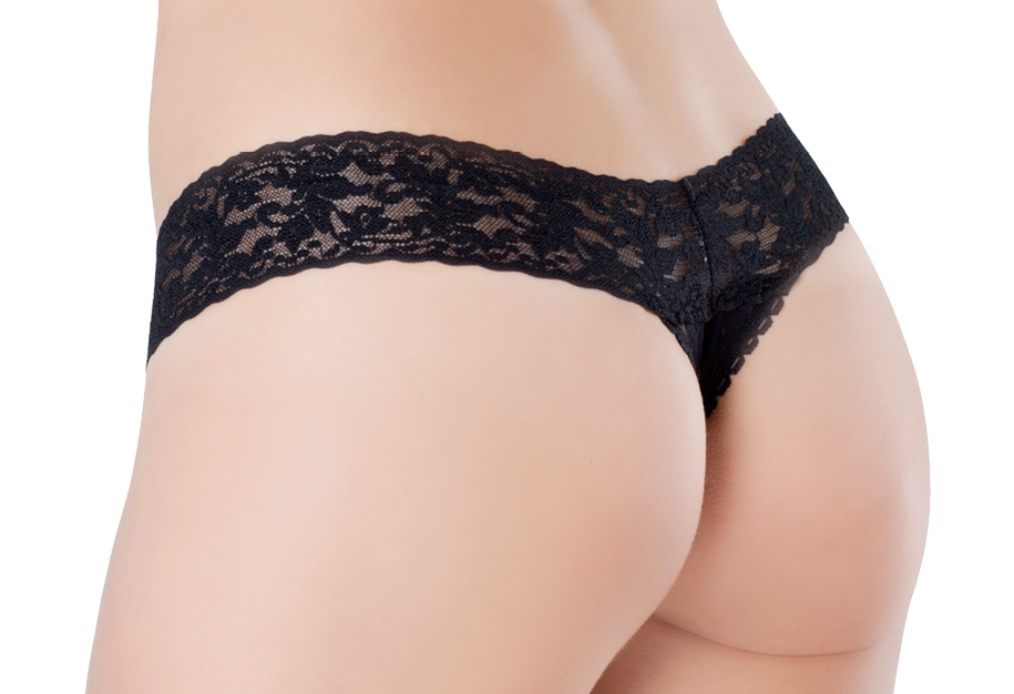 Lace Thong - Liquorice Twist