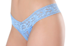 Petite Lace Thong  - Misty Raindrop