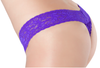 Petite Lace Thong - Purple Rain