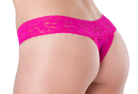 Lace Thong - Raspberry Fizz