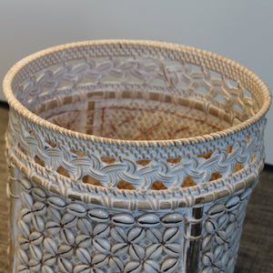 Shell rattan basket