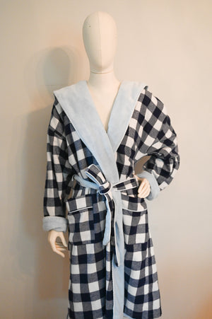 Open image in slideshow, Cliff House Plaid Robe