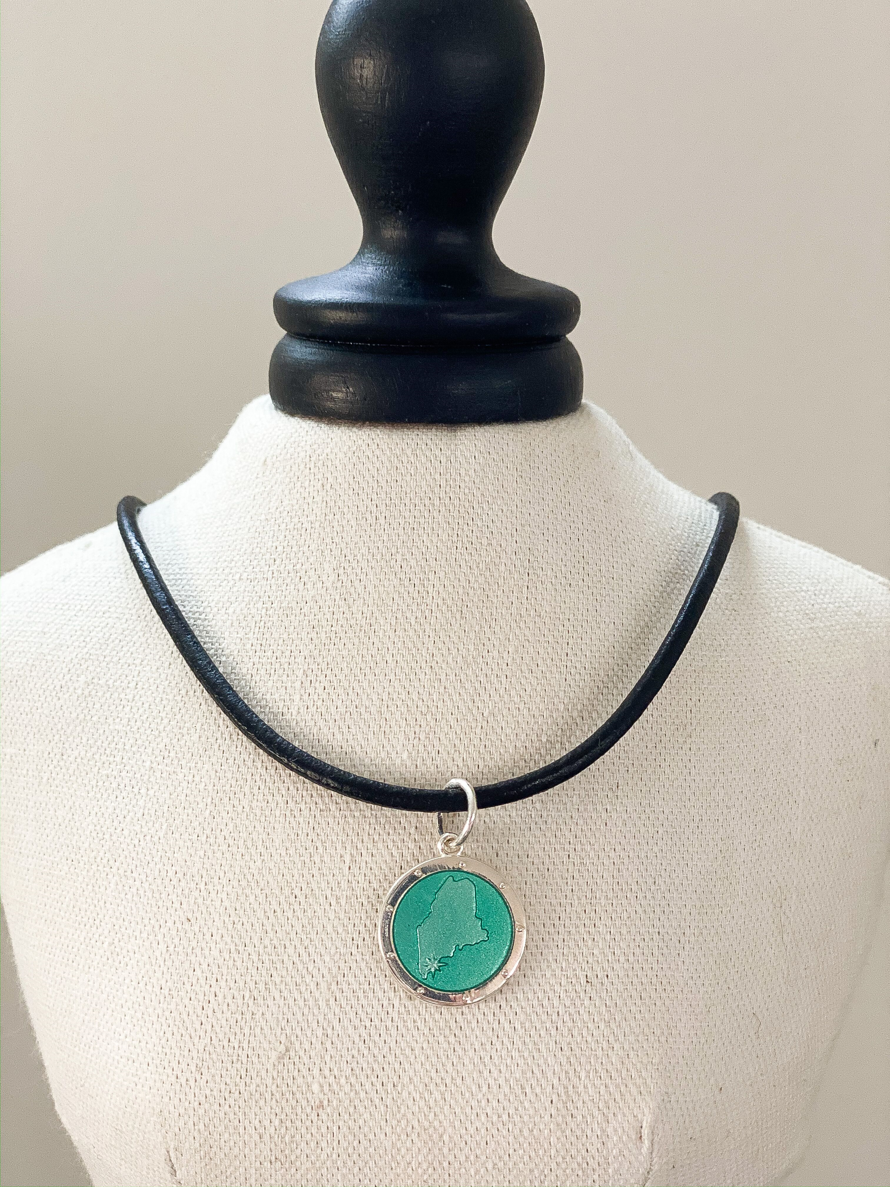 Custom Cliff House Maine Pendant by Lola Jewelry