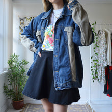 Load image into Gallery viewer, Cord patchwork denim jacket