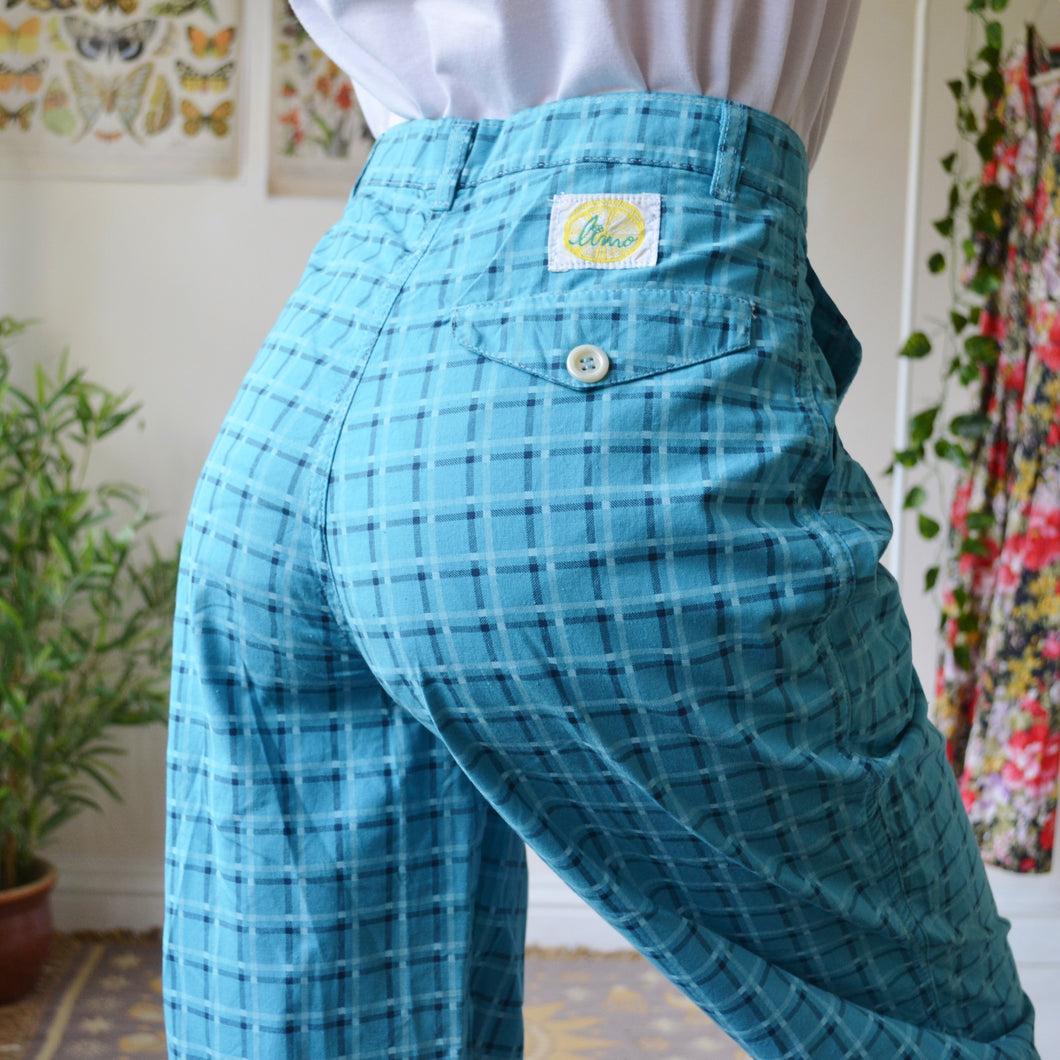 Plaid trousers 27W