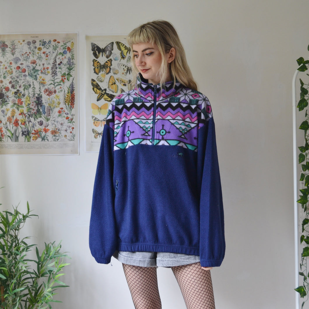 Aztec panel fleece