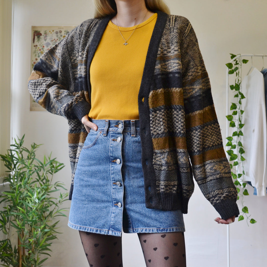 Earthy stripe cardigan