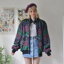 Load image into Gallery viewer, Zip up aztec panel fleece