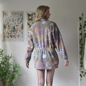 Arty fleece coat