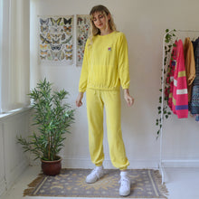 Load image into Gallery viewer, Yellow velour tracksuit